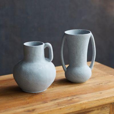 Pastel Jug Vase with Handle