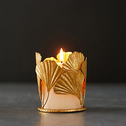 View larger image of Ginkgo Tealight Holder