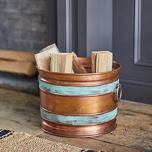 View larger image of Banded Copper Log Holder