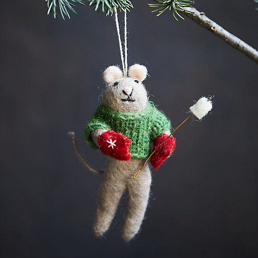 View larger image of Campfire Mouse Felt Ornament