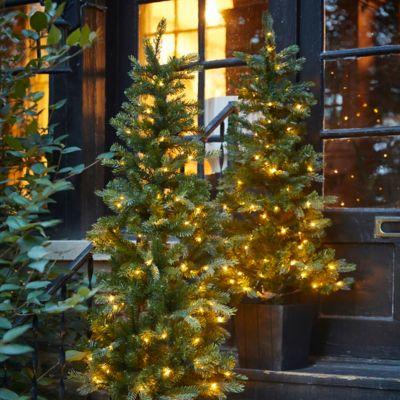 Faux Pre-lit LED Potted Idaho Tree