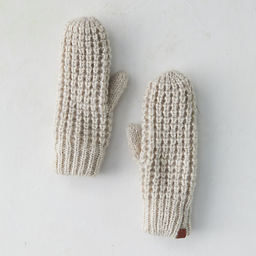 View larger image of Fleece Lined Cozy Knit Mittens