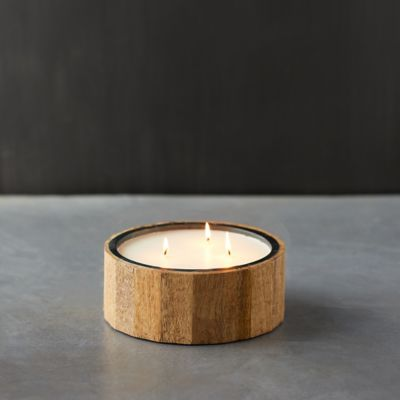 Wood Plank Citronella Candle