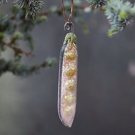 View larger image of Pea Pod Glass Ornament