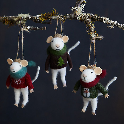 View larger image of Mice in Christmas Sweaters Ornaments, Set of 3