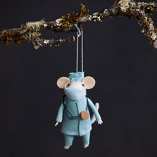 View larger image of Doctor Mouse Felt Ornament