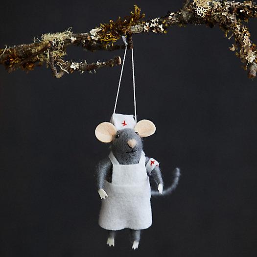View larger image of Nurse Mouse Felt Ornament