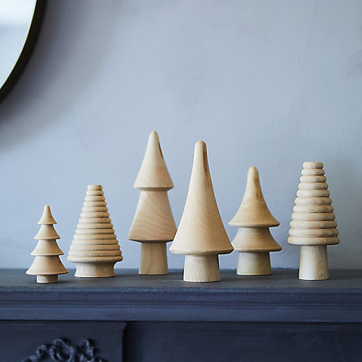 View larger image of Miniature Wooden Trees, Set of 6
