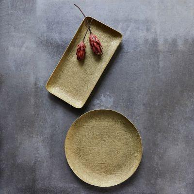 Gold Linework Decorative Tray
