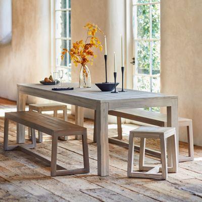 Knoll Slatted Teak Dining Table