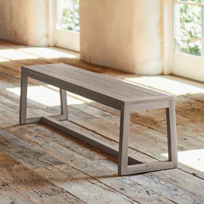 Knoll Slatted Teak Dining Bench