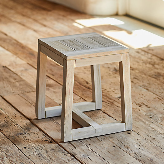 View larger image of Knoll Slatted Teak Dining Stool