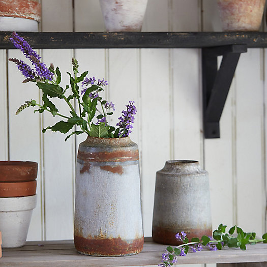 View larger image of Distressed Iron Jug Bud Vase