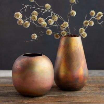 Antiqued Copper Vase