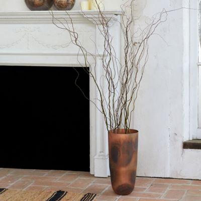 Antiqued Copper Vase, Floor