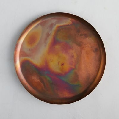 Antiqued Copper Decorative Tray