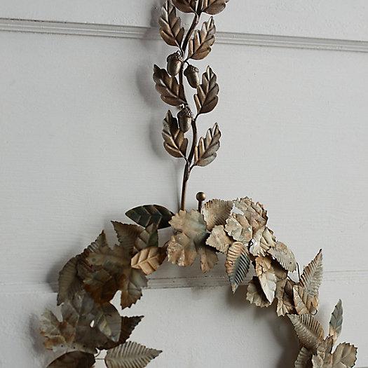 View larger image of Oak Leaf Iron Wreath Hanger