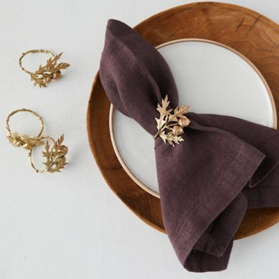 Oak + Acorn Napkin Rings, Set of 4
