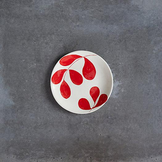 View larger image of Red Leaf Ceramic Salad Plate