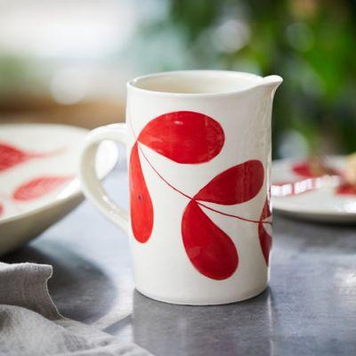 Red Leaf Ceramic Jug