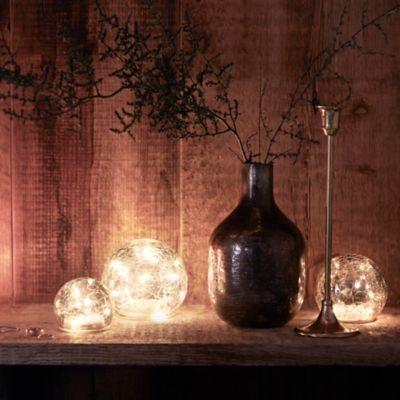 Smoky Blue Mercury Glass Vase