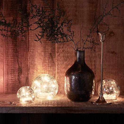 View larger image of Smoky Blue Mercury Glass Vase