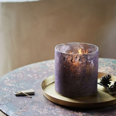 Oxidized Purple Foil Glass Hurricane