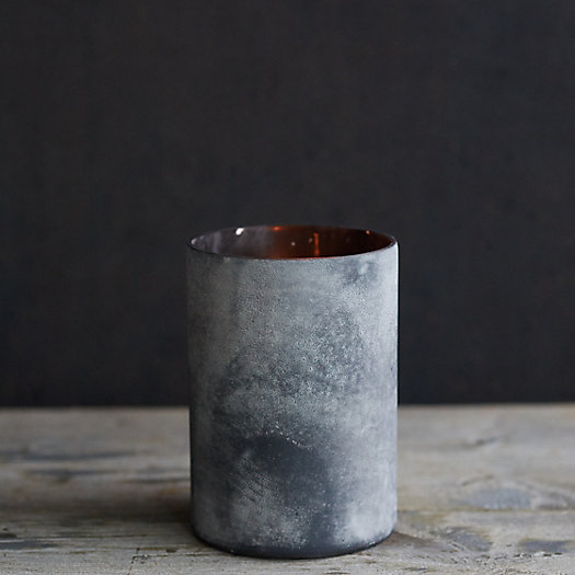 View larger image of Rustic Black Glass Hurricane