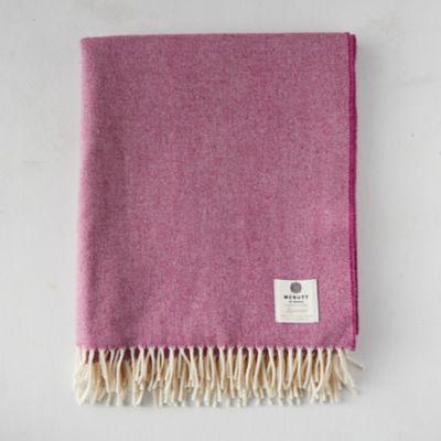 Beetroot Merino Wool Throw