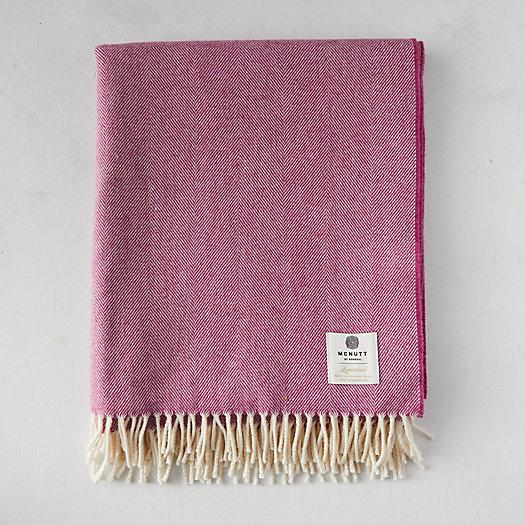 View larger image of Beetroot Merino Wool Throw