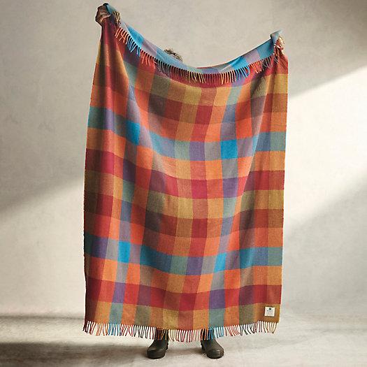 View larger image of Sunset Check Merino Wool Throw