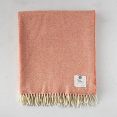 Reversible Coral Merino Wool Throw