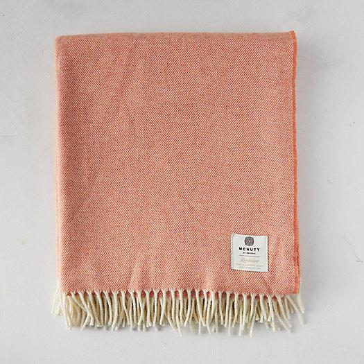 View larger image of Reversible Coral Merino Wool Throw