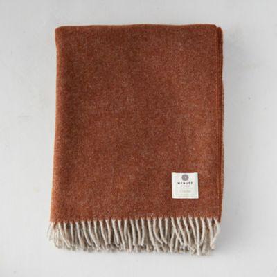 Reversible Gingerbread Merino Wool Throw