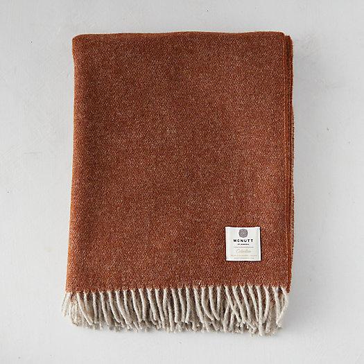 View larger image of Reversible Gingerbread Merino Wool Throw