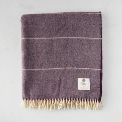 Mauve Ombre Wool Throw