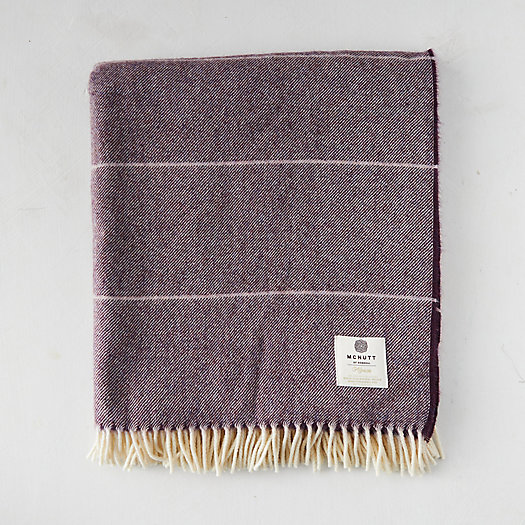 View larger image of Mauve Ombre Wool Throw