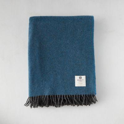 Reversible Larkspur Merino Wool Throw