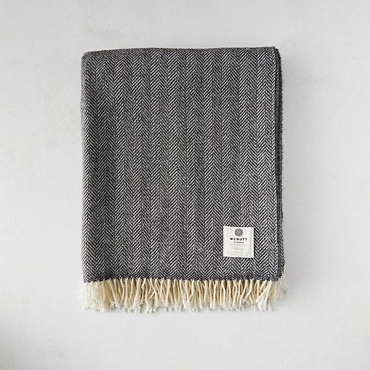 View larger image of Storm Herringbone Merino Wool Throw