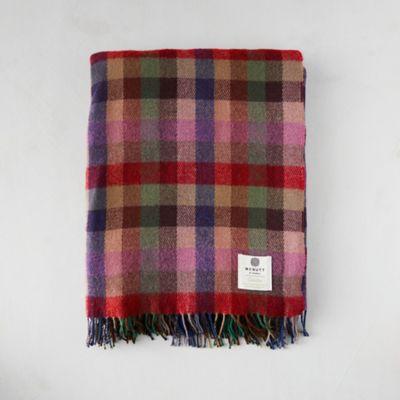 Meadow Check Merino Wool Throw