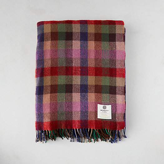 View larger image of Meadow Check Merino Wool Throw