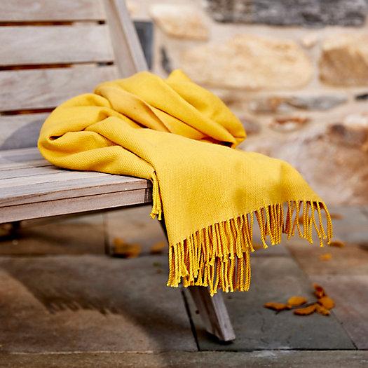 View larger image of Sunflower Merino Wool Throw