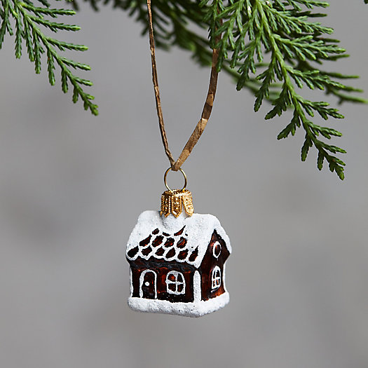 View larger image of Mini Gingerbread House Glass Ornament