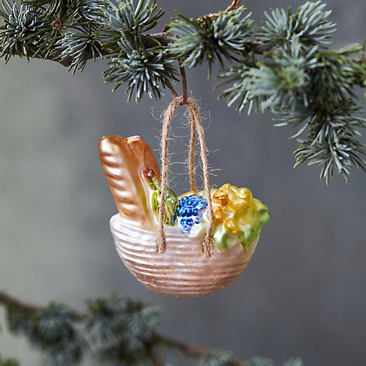 View larger image of Picnic Basket Glass Ornament