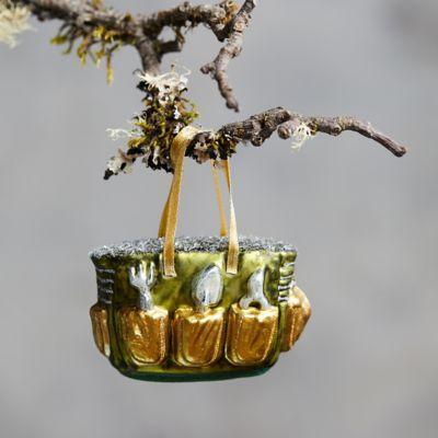 Garden Bag Glass Ornament