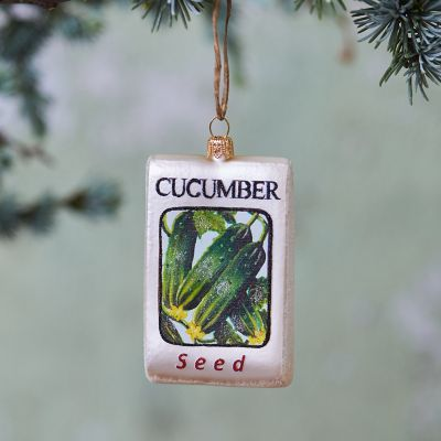 Cucumber Seed Glass Ornament