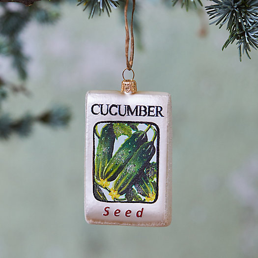 View larger image of Cucumber Seed Glass Ornament