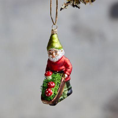 Gnome Glass Ornament