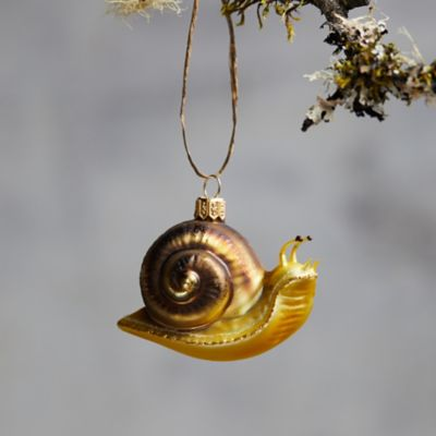 Snail Glass Ornament