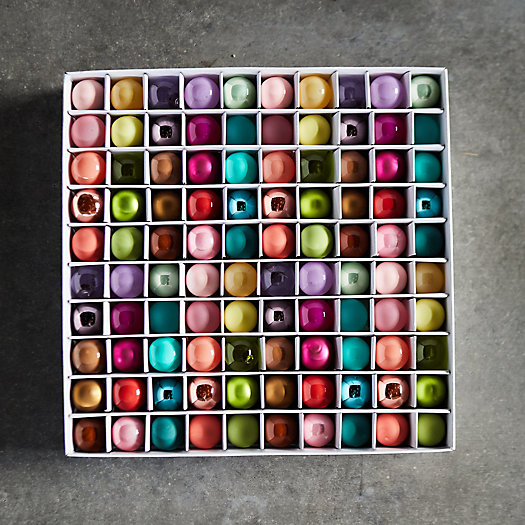 View larger image of Miniature Glass Bulb Ornament Set, 100